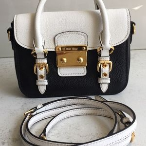 Miu Miu Black&White leather Crossbody